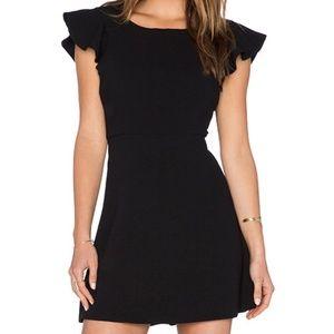 BCBGeneration Ruffle Back Dress in Black